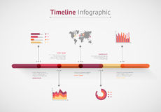 Timeline  infographic. World map Stock Photo