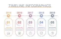 Timeline Infographics stock illustrationer
