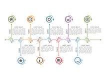 Timeline Infographics royaltyfri bild
