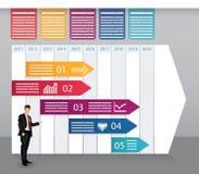 Timeline Infographics royaltyfri illustrationer