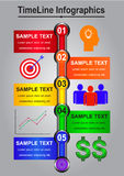 Timeline Infographics abstract for  business Stock Photos