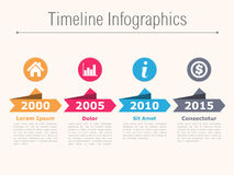 Timeline Infographics Royalty Free Stock Photo