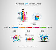 Timeline with Infographics design elements for brochures, Stock Photos