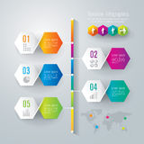 Timeline infographics design template. Timeline infographics design template with numbered paper elements Royalty Free Stock Photo