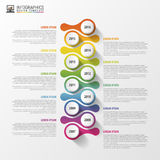 Timeline infographics design template. Business concept. Vector illustration Royalty Free Stock Images