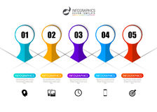 Timeline infographics design template with circles. Vector Royalty Free Stock Images