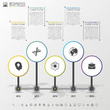 Timeline infographics design template with circles. Vector Royalty Free Stock Image