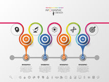 Timeline infographics design template. Colorful Vector illustration Stock Photo