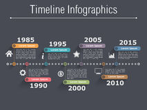 Timeline Infographics Stock Photo