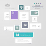 Timeline infographics design template with icons, process diagra Stock Photos
