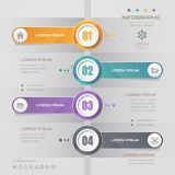 Timeline infographics design template with icons, process diagra Royalty Free Stock Images