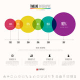 Timeline Infographics Design Template. With icons set , Vector eps10 Royalty Free Stock Photos