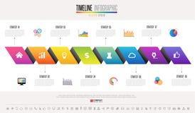 Timeline Infographics Design Template Stock Photo