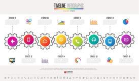 Timeline Infographics Design Template Stock Photos
