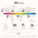Timeline Infographics Design Template Royalty Free Stock Photography