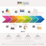 Timeline Infographics Design Template Stock Image