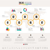 Timeline Infographics Design Template Stock Image