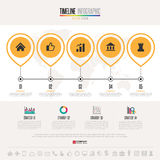 Timeline Infographics Design Template Stock Photography