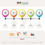 Timeline Infographics Design Template Stock Photos