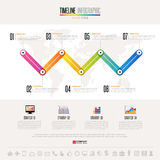 Timeline Infographics Design Template Royalty Free Stock Photo