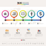 Timeline Infographics Design Template Stock Images