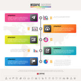 Timeline Infographics Design Template. With icons set , Vector eps10 .  Elements of this image furnished by NASA Royalty Free Stock Photography
