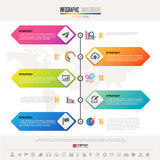 Timeline Infographics Design Template. With icons set , Vector eps10 .  Elements of this image furnished by NASA Stock Image