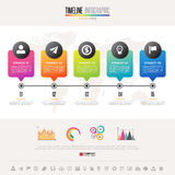 Timeline Infographics Design Template. With icons set , Vector eps10 .  Elements of this image furnished by NASA Royalty Free Stock Images