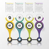 Timeline infographics design template with numbers. Modern conce Stock Photography