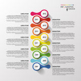 Timeline infographics design template. Vector Royalty Free Stock Photos