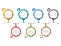 Timeline Infographics Royalty Free Stock Photos