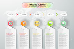 Timeline infographics design. Vector illustration. Royalty Free Stock Photos