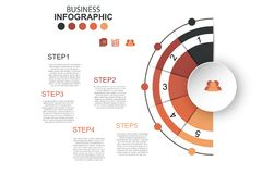 Timeline infographics design vector and marketing icons can be u. Sed for workflow layout, diagram, annual report, web design. Business concept with many options vector illustration