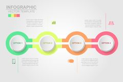 Timeline infographics design vector and marketing icons can be u. Sed for workflow layout, diagram, annual report, web design. Business concept with 4 options royalty free illustration