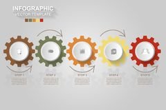 Timeline infographics design vector and marketing icons can be u. Sed for workflow layout, diagram, annual report, web design. Business concept with 5 options vector illustration