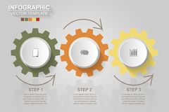 Timeline infographics design vector and marketing icons can be u. Sed for workflow layout, diagram, annual report, web design. Business concept with 3 options vector illustration