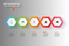 Timeline infographics design vector and marketing icons can be u. Sed for workflow layout, diagram, annual report, web design. Business concept with 5 options stock illustration
