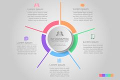 Timeline infographics design vector and marketing icons can be u. Sed for workflow layout, diagram, annual report, web design. Business concept with many options royalty free illustration