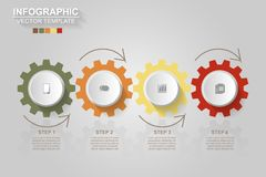 Timeline infographics design vector and marketing icons can be u. Sed for workflow layout, diagram, annual report, web design. Business concept with 4 options stock illustration