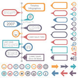 Timeline Infographics Elements Collection Royalty Free Stock Photography