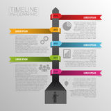 Timeline infographics, elements with icons. Vector Royalty Free Stock Images