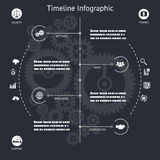 Timeline Infographics Elements Symbols and Icons Royalty Free Stock Photography