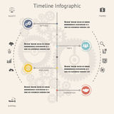 Timeline Infographics Elements Symbols and Icons Royalty Free Stock Image