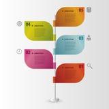 Timeline Infographics Flaggor också vektor för coreldrawillustration Arkivbild
