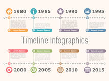 Timeline Infographics Stock Image