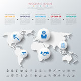 Timeline infographics with icons set. Royalty Free Stock Photo