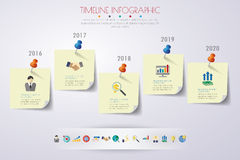 Timeline infographics with icons set. vector. illustration. Stock Images