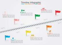 Timeline infographics with icons. Vector Royalty Free Stock Photo