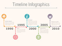Timeline Infographics Stock Photography
