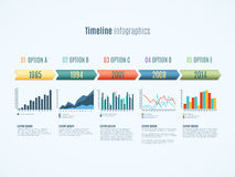 Timeline infographics illustration Royalty Free Stock Images